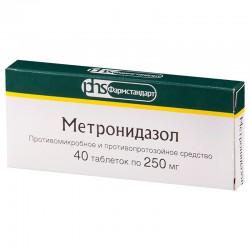 Метронидазол, табл. 250 мг №40